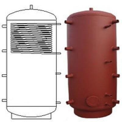 Теплоаккумулирующая емкость из углиродистой стали с верхним теплообменником 3000 л.